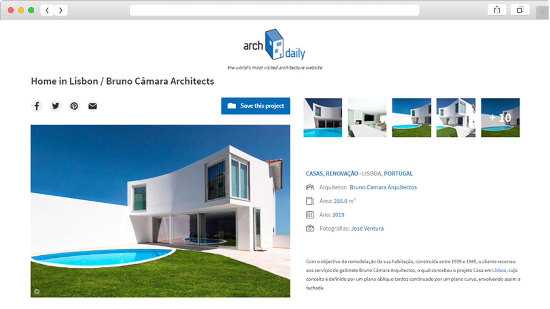Arch Daily Bruno Câmara Arquitectos