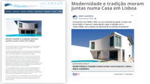 House in Lisbon, Diário Imobiliário publication